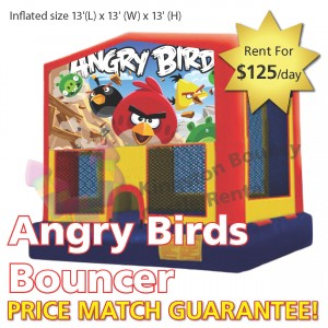 Kingston Bouncy Castle Rentals - Angry Birds Bouncer No Slide