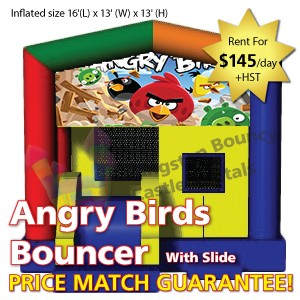 Kingston Bouncy Castle Rentals - Separate Castles 2014 - Angry Birds with Slide