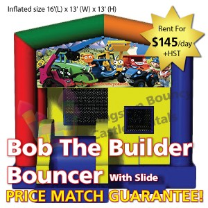 Kingston Bouncy Castle Rentals - Separate Castles 2014 - Bob The Builder Bouncer With Slide