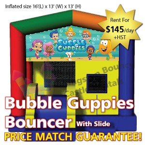 Kingston Bouncy Castle Rentals - Separate Castles 2014 - Bubble Guppies Bouncers With Slide1