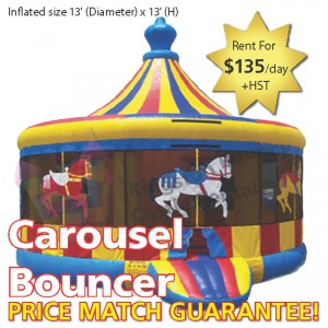 Kingston Bouncy Castle Rentals - Separate Castles 2014 - Carousel Bouncer