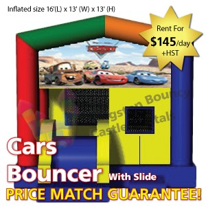 Kingston Bouncy Castle Rentals - Separate Castles 2014 - Cars Bouncer With Slide 2