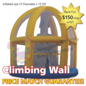 Kingston Bouncy Castle Rentals - Separate Castles 2014 - Climbing Wal