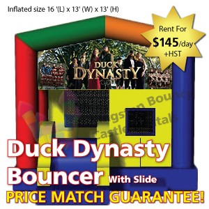 Kingston Bouncy Castle Rentals - Separate Castles 2014 - Duck Dynasty With Slide1