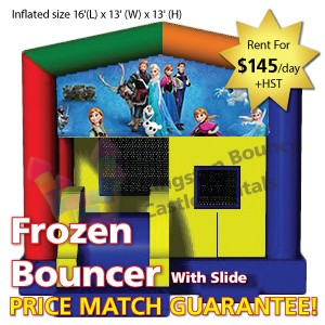 Kingston Bouncy Castle Rentals - Separate Castles 2014 - Frozen Bouncer With Slide