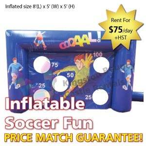 Kingston Bouncy Castle Rentals - Separate Castles 2014 - Inflatable Soccer Fun 1