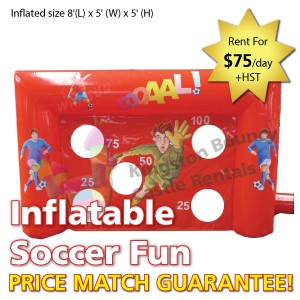 Kingston Bouncy Castle Rentals - Separate Castles 2014 - Inflatable Soccer Fun 2 1