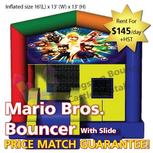 Kingston Bouncy Castle Rentals - Separate Castles 2014 - Mario Bros Bouncer With Slide