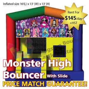 Kingston Bouncy Castle Rentals - Separate Castles 2014 - Monster High Bouncer With Slide