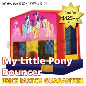 Kingston Bouncy Castle Rentals - Separate Castles 2014 - My Little Pony Bouncer No Slide