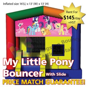 Kingston Bouncy Castle Rentals - Separate Castles 2014 - My Little Pony With Slide