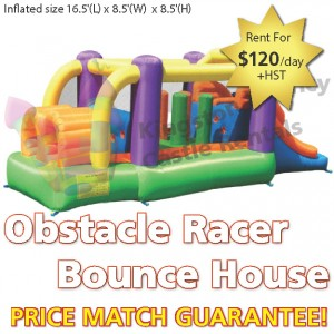 Kingston Bouncy Castle Rentals - Separate Castles 2014 - Obstacle Racer Bounce House