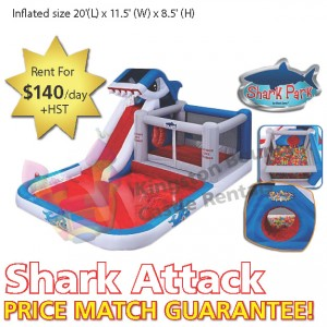 Kingston Bouncy Castle Rentals - Separate Castles 2014 - Shark Attack