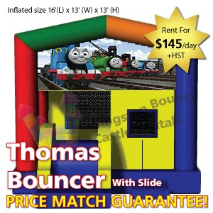 Kingston Bouncy Castle Rentals - Separate Castles 2014 - Thomas Bouncer With Slide