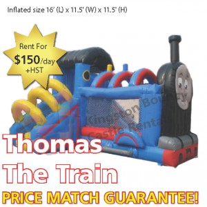 Kingston Bouncy Castle Rentals - Separate Castles 2014 - Thomas The Train
